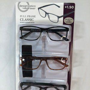 3-pack Reading Glasses +1.50